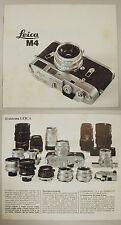 LEICA M4 prospetto circa 1967 Leitz Germania Fotografia brochure
