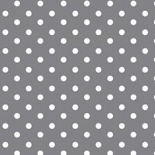 Baumwollstoff Große Punkte Grau METERWARE Webware Popeline Stoff Big Dots
