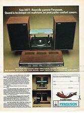 PUBLICITE ADVERTISING 0314   1976    FERGUSON  hi-fi tuner ampli