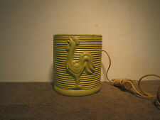 Antique Rooster TV Lamp / Planter, Pottery Felt Bottom Must SEE