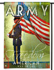 "Us Army Guardians of Freedom Small Banner Flag 12.5x18"" Patriotic Military"