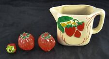Lot of Ceramic Strawberry Kitchen Dining Pieces Shakers Creamer Pitcher Q4Y41
