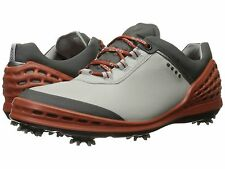 NEW MENS ECCO CAGE GOLF SHOES - 9-9.5/ EUR 43 - AUTHENTIC $200 - WHITE/UT ORANGE