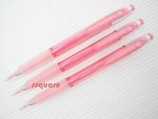 3 Pencils x Pilot HCR-12R Color Eno 0.7mm Coloured Mechanical Pencil, Pink