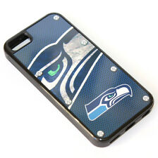 for iPhone 5C - Blue NFL Seattle Seahawks Hard TPU Rubber Gummy Skin Case Cover