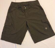 Mountain Hardwear Brown Cargo Shorts Nylon Adjustable Youth Boys Sz Large