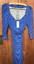 Anthropology Plenty By TRACY REECE Dress BLUE - NEW With Tags SIZE XS Rrp £148