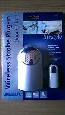 DESA lifestyle Wireless Strobe Plug-in Door Chime with up to 100m Range