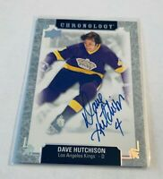 R47,427 - 2018-19 Chronology Franchise History Autographs #FHLADH Dave Hutchison