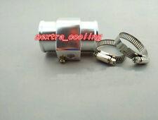 "Silver 36MM 1.42"" Water Temp Gauge Radiator Sensor Adaptor Attachment Aluminum"