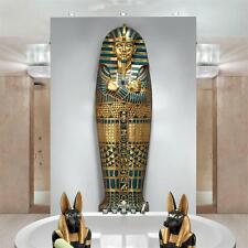 6' Egyptian Boy King Tut Sarcophagus Tomb of the Pharaoh Wall Mount Sculpture