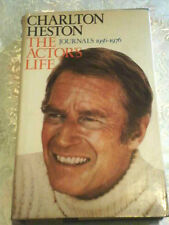 Charlton Heston.Autographed HC Book First Edition 1978!! The Actor's Life !!!