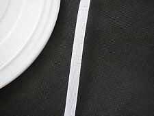 White RIGILENE polyester boning easy sew give shape to Garments 1cm wide.ByMeter