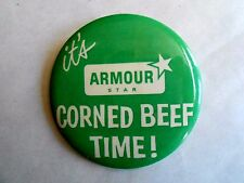 Vintage Armour Star Corned Beef St Patrick's Day Advertising Pinback Button