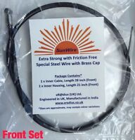 SunWire_Complete Front Inner & Outer Wire Brake Cable Set Bike Bicycle Black