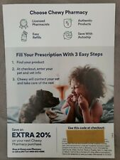 CHEWY.COM Pharmacy Rx 20% OFF Coupon Expiration 10/15/2020