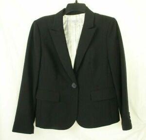 KASPER Separates Women's Blazer Black Single Button Jacket Size 8P