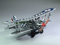 New 1/72 WWI Royal Air Force The Bristol Bulldog Fighter Aircraft 3D Alloy Model