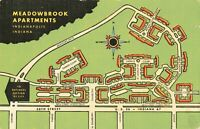 Postcard Meadowbrook Apartments Indianapolis Indiana