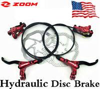 MTB Hydraulic Disc Brake Set With 160/180/203mm Road Bike Rotor Match PM-Adapter