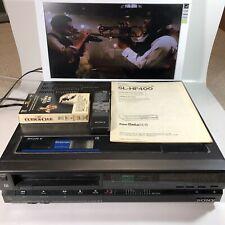 New listing Sony Super Beta Hi-Fi Stereocast Sl-Hf400 Betamax Player w Remote, Manual + Tape
