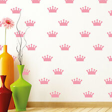 Vendedor Reino Unido Rosa coronas patrones de vinilo en las Pegatinas de Pared Wallpaper
