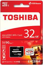 Toshiba Micro SDHC Karte 32GB Speicherkarte Class 10 inkl. SDHC SD Card 90MB/S