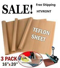 Htvront 3x Teflon Sheets For Heat Press Transfer Non Stick Resistant Reusable