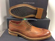 Tommy Hilfiger Brown Leather Men's Shoes, Size UK 8 / EUR 42