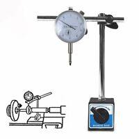 Magnet Meßuhr Messstativ mit Messuhr Zentralklemmmung Messuhrhalter 10 / 0,01 mm