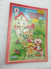 Vintage Strawberry Shortcake Happy Home Coloring Book (1982)