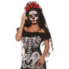 Day of The Dead Headpiece Sugar Skull Veil Dia de Los Muertos Costume Headband