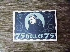1920 Austria NOTGELD 75 Heller Banknote Free shipping