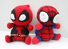 Deadpool Spiderman amigurumi Plushie Stuffed Toy Doll Plush Inspired Amigurumi