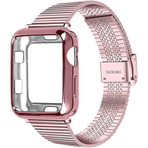 Case+Stainless Steel Band For Apple iWatch Series SE 6 5 4 3 2 Wrist Watch Strap