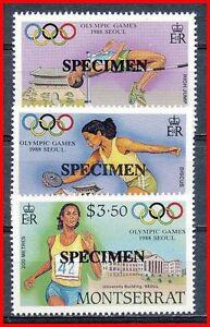 MONTSERRAT 1988 OLYMPIC GAMES SEOUL SC# 677-79 SPECIMEN MNH (DE0122)