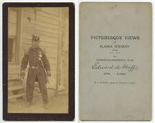 ALASKA, SITKA/KILLISNOO, MAN IN MILITARY COAT + HAT W/ SWORD VINTAGE PHOTO