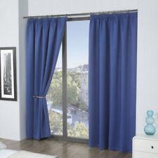 Cortinas y visillos color principal azul de baño de poliéster