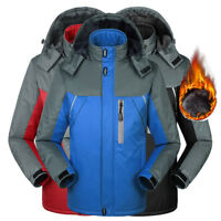 UK Men L-4xl Sports Waterproof Hiking Jacket Winter Ski Outdoor Rain Coat Hoodie