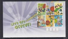 Australia 2009 Lets Get Active design set of 6 Fdc Reduced price $2.00