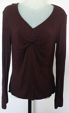 TABLE EIGHT Size S Brown Viscose Knit Top