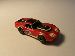 """VINTAGE AURORA/AFX CHEVY CORVETTE """"A"""" Production Slot Car with Running Chassis"""
