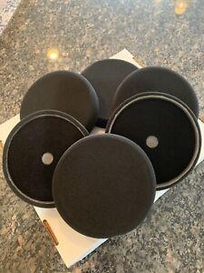 6 pcs 7 Inch BLACK Flat Sponge Buffing Waxing Polisher Foam Pads