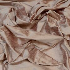 "Iridescent Lavender Blush Dupioni 100% Silk Fabric 44"" Wide, By The Yard (S-235)"