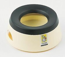 Road Refresher Non Spill Proof Home Travel Water Drinking Dog Bowl Small Cream