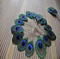 Al por mayor 1-10 yardas Hermosa Decoración de Cinta 12-15cm Natural Pluma de Pavo Real