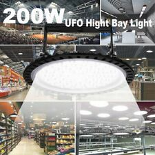 UFO LED Hallenbeleuchtung 200W Industrielampe Hallenstrahler Hallenleuchte