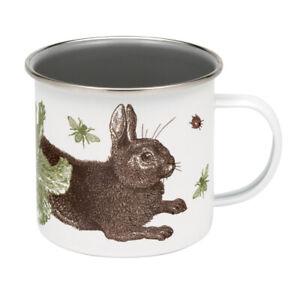 Thornback & Peel Enamel Mug Rabbit & Cabbage Coffee Mug Gift Boxed