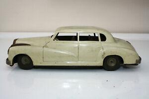 1950s JNF ? MERCEDES BENZ TINPLATE CAR CREAM WESTERN GERMANY RESTORATION PROJECT