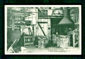Postcard Knott's Berry Farm Interior of Blacksmith Shop in Ghost Town. KBF
